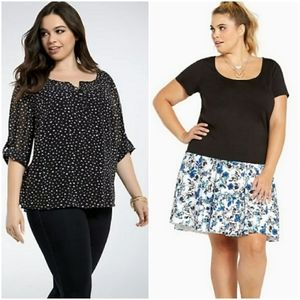 Bundle of 2 torrid shirts size 2 plus size tops